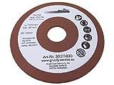 Schleifscheibe Kettenschärfgerät passend für LUX Tools KSS-85 - Ersatz Schleif Scheibe für Kettenschärgerät Ø 104 mm, Dicke 3,2 mm und Aufnahme 22,2 mm