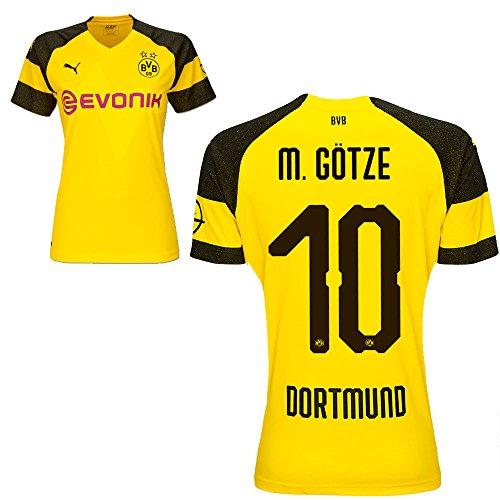 Puma BVB Borussia Dortmund Fußball Damen Home Trikot 2018 2019 Frauen Heimtrikot Mario Götze 10 Gr L