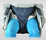 Cinture di sicurezza per anziani in sedia a rotelle, cintura anti-caduta in nylon 100%, cintura lungo 97 ~ 135cm (blu scuro)