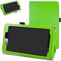 """vodafone smart tab mini 7 / ALCATEL pixi 4 7 Funda,Mama Mouth Slim PU Cuero Con Soporte Funda Caso Case para 7"""" vodafone smart tab mini 7 / ALCATEL pixi 4 7 Android Tablet 2016,verde"""