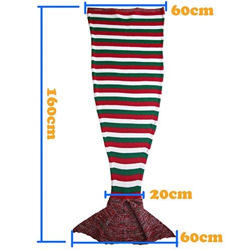 HDWN Mermaid sacco a pelo della coda della sirena doppio flanella 3-12 anni i bambini sacchi a pelo , 160*60cm