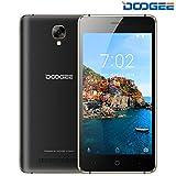 DOOGEE X10S Double SIM Téléphone Portable Pas Cher - Android 8.1 Smartphone débloqué 3G, 5.0 Pouces IPS Écran, 2MP + 5MP Dual Caméras, 8 Go ROM, 3360mAh Batterie - Noir