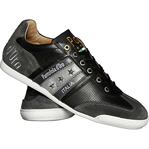 Pantofola d´Oro Herren Sneaker Imola Classico Uomo Op Low Leder Schuh-Schwarz (Ebony)-43