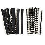 Aussel 40 Stück 2.54mm Breakaway Platine 40Pin Stecker und Buchsenleiste für Arduino Shield (PIN-2 40PCS)