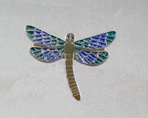 Metal Enamel Pin Badge Brooch Dragonfly in Blue