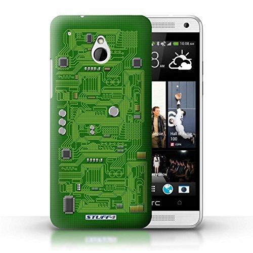 Kobalt® Imprimé Etui / Coque pour HTC One/1 Mini / Jaune conception / Série Circuit Board Vert