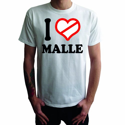 I don't love Malle Herren T-Shirt Weiß