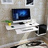 Bseack_Store Wall Table Wandbehang Einfache Computer Schreibtisch, Mit Tastatur/Host Unterstützung Haushalt Kleine Wohnung Wandhalterung Computertisch, 6 Farben (Farbe : Weiß)