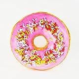 Donut Doughnut Kissen rund mit Glasur und Struseln pink