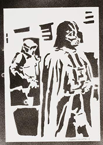 moreno-mata Darth Vader Star Wars Handmade Street Art -