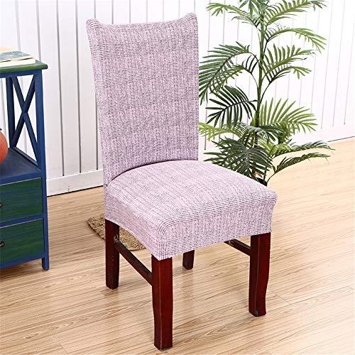 Stuhlhussen Set Stretch Beschützer Stuhlbezug Stuhlüberzug, Morbuy Moderne Plain Universal Einfarbig Elastische Spannbezug Hochzeit Weihnachten Partys Bankett Hotel Dekor (1 Stück,Blass lila) -