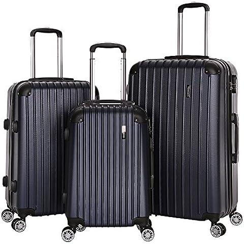 TOMSHOO Set di Valigie Da Viaggio 3 Pezzi Bagagli ABS Carrello 20