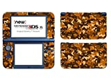 Skins4u Nintendo NEW 3DS XL Skin Aufkleber Skin Folie Design Sticker komplett Set Schutzfolie - Desert Camo Crumble