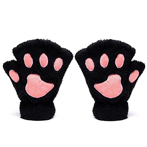 ODEMA Ladies Bear Cat Throw Claw Glove Guantes suaves sin dedos Guantes