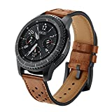 SUNDAREE Compatible con Correa Galaxy Watch 46MM/Gear s3 Frontier/Classic,22mm Piel Genuina...