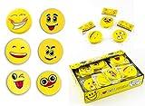 18 x Radiergummi als Set - buntes Emoticon / Smiley Motiv - kleines Geschenk / Mitgebsel für Kindergeburtstag oder Motto Party - tolles Partyzubehör zum Auffüllen der Mitgebsel Tüte für Kinder