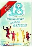 Geburtstagskarte XXL zum 18. Geburtstag