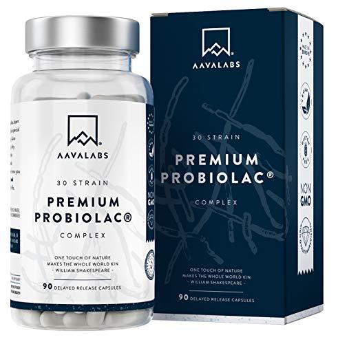 Complejo Probiolac Premium - Alta Potencia - 120 Mil Millones de UFC - 30 Cepas de...