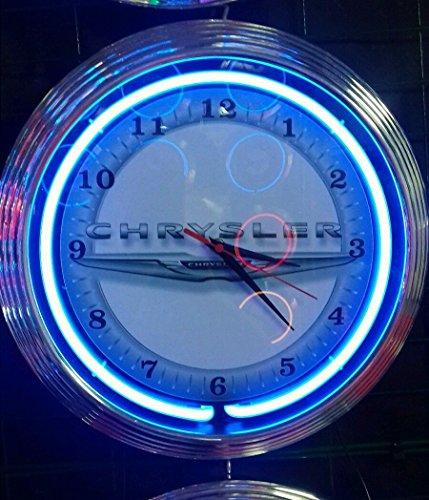 neon-horloge-chrysler-garage-sign-horloge-murale-usa-50-s-style-couleur-fluo-bleu