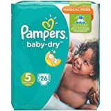 Pampers Baby Dry taille basse 5,11–23 kg Pack Pack de 4 (4 x 26 pièces)