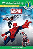 World of Reading: Marvel Marvel 3-in-1 Listen-Along Reader (World of Reading Level 1): 3 Tales of Action with CD!