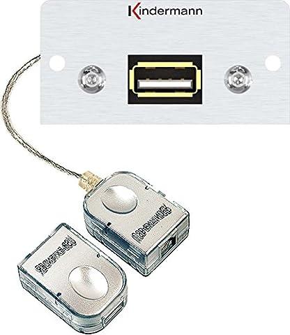KINDERMANN Façade d'autoradio 7444000524Connexion USB Amplificateur Konnect Multi utilisation/Cache pour données en aluminium et système de communication de techniques de raccordement 4021565026355