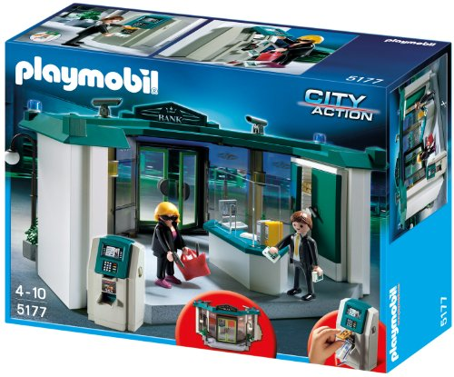 Playmobil 5177 - Bank mit Geldautomat (Geldautomat-bank)