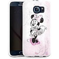 Samsung Galaxy S6 Silikon Hülle Case Schutzhülle Disney Minnie Mouse Merchandise Geschenke