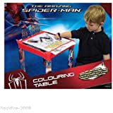 BRAND NEW SPIDERMAN CHILDS PLASTIC COLOURING TABLE WITH STATIONARY