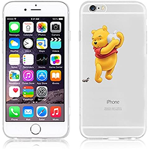 Ronney de Disney Soporte de Winnie the Pooh & Friends funda TPU suave transparente para Apple iPhone 5/5S/se 6/6S y 6 +/6 + S, plástico, Winnie1, APPLE IPHONE