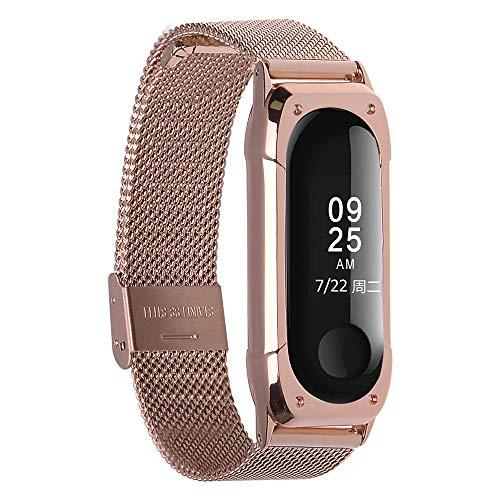 XIHAMA Montre Bracelet de Rechange pour Xiaomi Mi Band 3 / Mi Band 4, Hommes Femmes métal en Acier Inoxydable Remplacement Bracelet