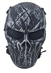 Coofit Airsoft Skelett Schädel voll Gesicht Beschützer Mask