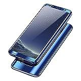Samsung Galaxy S8 Hülle, 3 in 1 Ultra Dünner PC Harte Case 360 Grad Ganzkörper Schützend Anti-Kratzer Anti-dropping Schutzhülle für Galaxy S8 Plus (Samsung Galaxy S8 Plus, Blau)