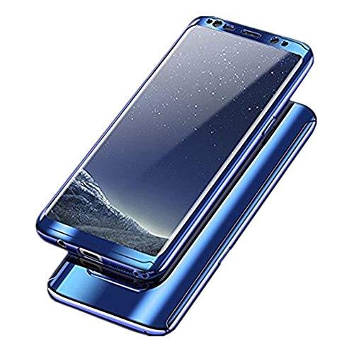 Samsung Galaxy S8 Hülle, 3 in 1 Ultra Dünner PC Harte Case 360 Grad Ganzkörper Schützend Anti-Kratzer Anti-dropping Schutzhülle für Galaxy S8 Plus (Samsung Galaxy S8, Blau) -