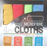 SET OF 4 MICROFIBRE MICRO FIBRE CLEANING CLOTHS