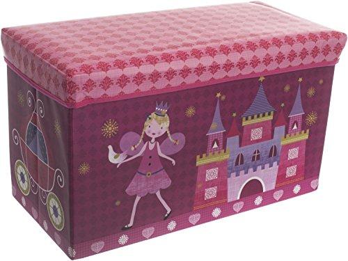 Bieco 04000499-Caja de almacenamiento y banco Princesa, aprox. 60x 30x 35cm