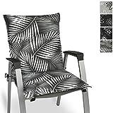 Beautissu Cojín para sillas de Exterior y jardín con Respaldo bajo Tropic 100x50x6 cm tumbonas,