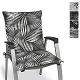 Beautissu Tropic Niedriglehner Auflage für Gartenstuhl 100x50 cm - Bequemes Sitzkissen Polsterauflage UV-Lichtecht - weitere Designs erhältlich