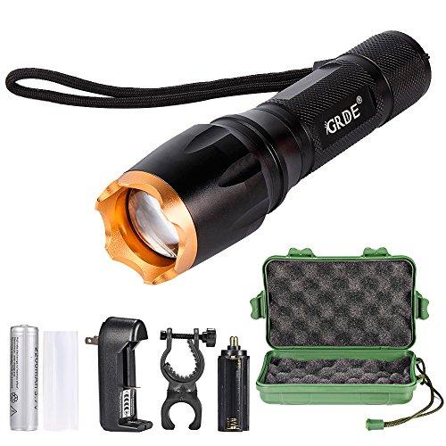 Linterna LED, Linterna Foco Ajustable y Potente Iluminación de 5 Modos,...