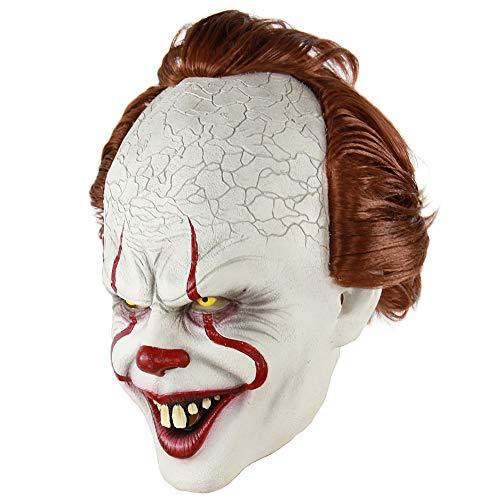 Kopfbedeckung Clown Kostüm - Traioy Horrorfilm Kopfbedeckung Maske, Horror Clown