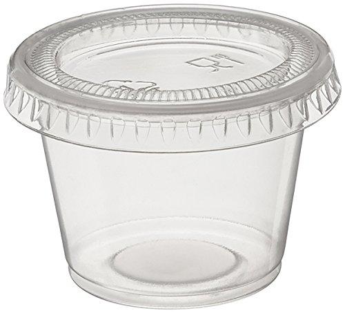 Polar Ice 160 Jello Shot Souffle Becher mit Deckel, 28 ml, durchscheinend