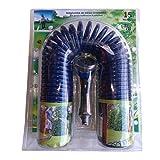 HidroRain SG15 Manguera de riego en Espiral con racores y Pistola, Azul, 30x3x20 cm