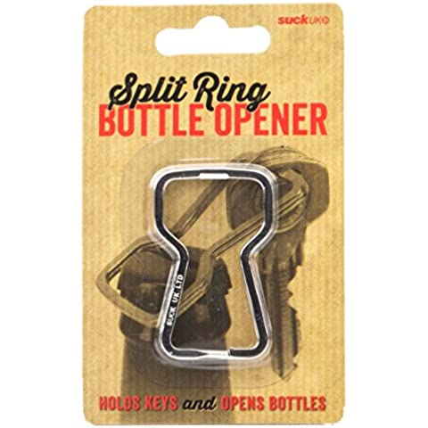 SUCK UK Split-Ring - Apribottiglie portachiavi