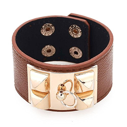 leather-bracelet-cufflinks-gold-clasp-kelly-leather-brown