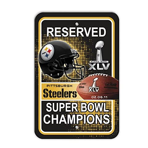 NFL Pittsburgh Steelers 12-by-18Zoll Kunststoff Parken Schild