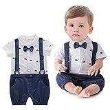 ARAUS Neonato Bambini Completini a Manica Corta Suit Formali Estiva (3-18 Mesi)