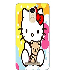 PrintDhaba Kitty D-5553 Back Case Cover for XIAOMI REDMI NOTE 3 (MEDIA TEK) (Multi-Coloured)