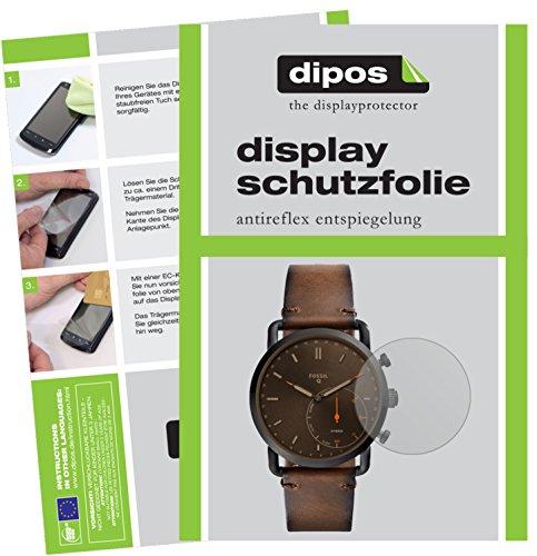 dipos I 6X Schutzfolie matt passend für Fossil Q Commuter Folie Bildschirmschutzfolie