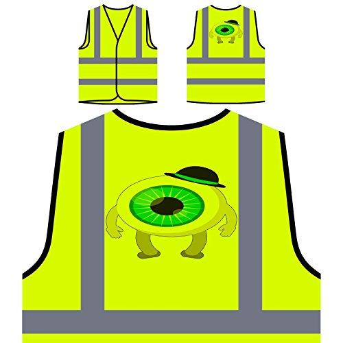 Beängstigend Halloween Auge Personalisierte High Visibility Gelbe Sicherheitsjacke Weste q152v