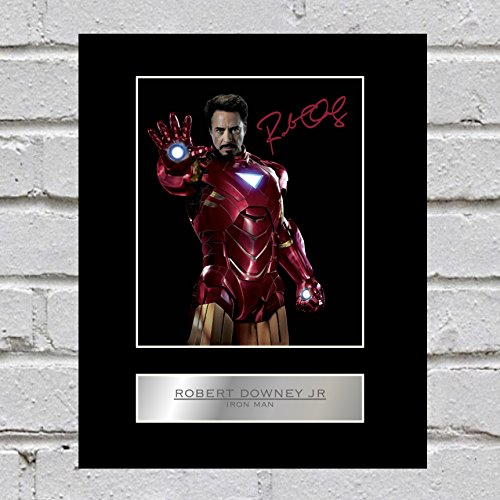 Robert Downey Jr Signiert Foto Display Iron Man (Autogramm-rahmen)